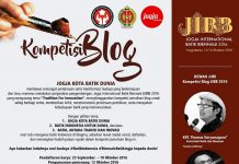 Kompetisi Blog 'Jogja Kota Batik Dunia'