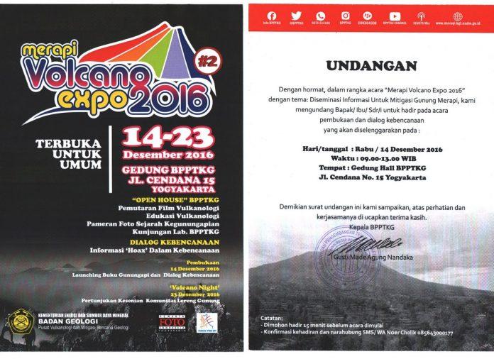 merapi volcano expo