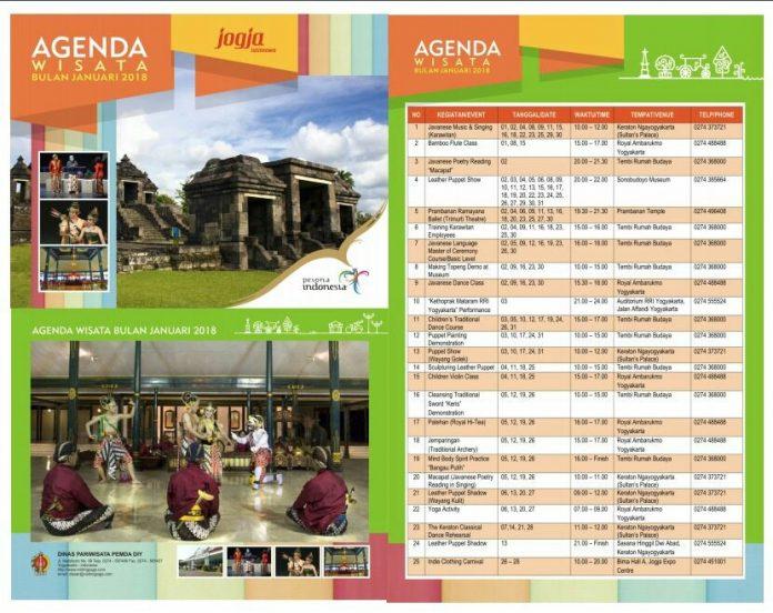 agenda wisata januari