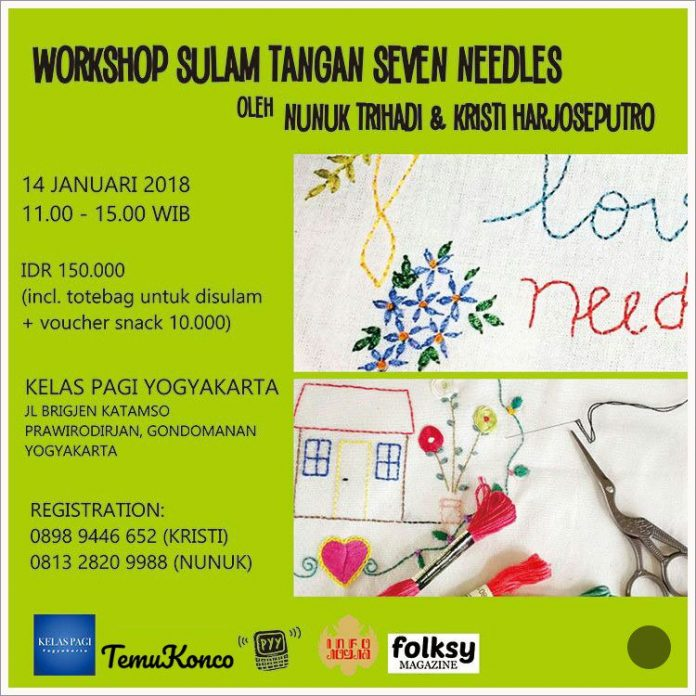 workshop sulam tangan