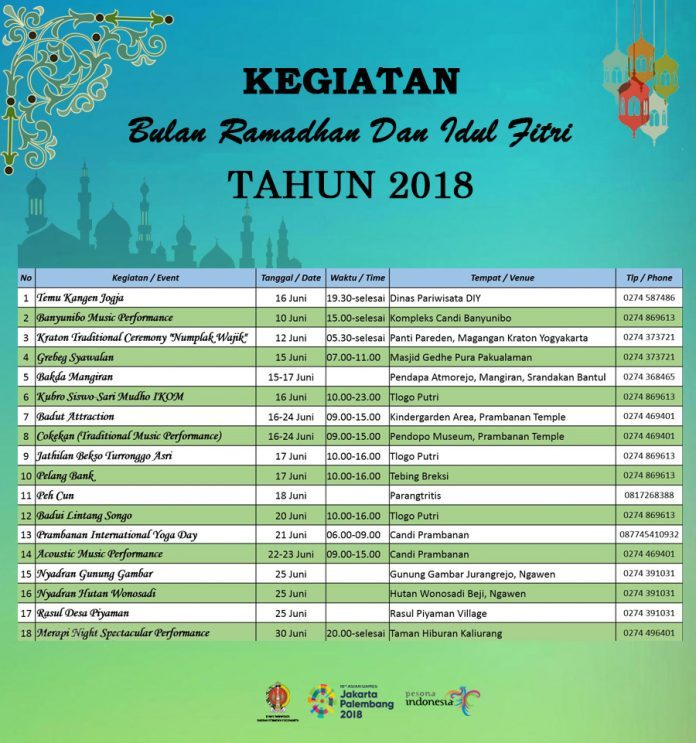 Agenda Kegiatan Bulan Ramadhan dan Idul Fitri Tahun 2018