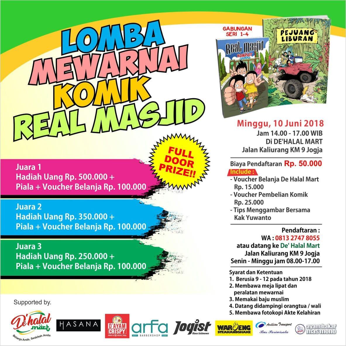 Lomba Mewarnai Komik Real Masjid Kotajogja Com