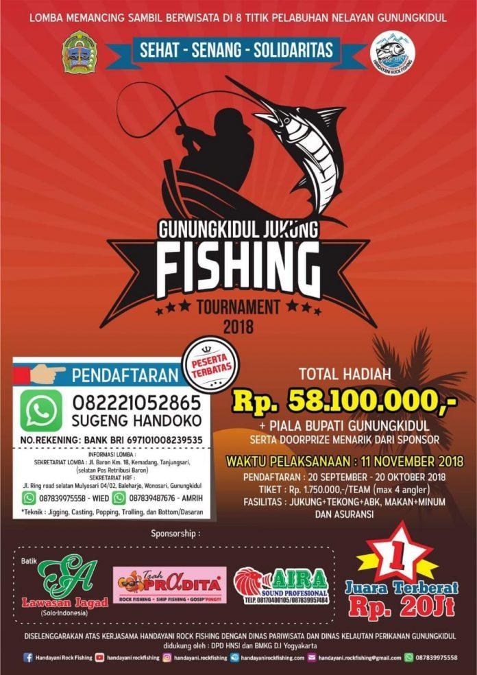 Gunungkidul Jukung Fishing Tournament