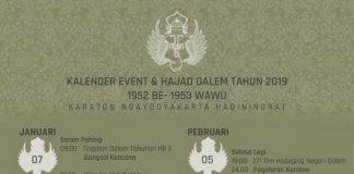 Kalender Event dan Hajad Dalem Keraton Yogyakarta