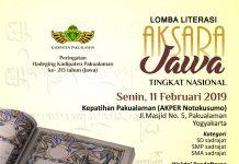 Lomba Literasi Aksara Jawa