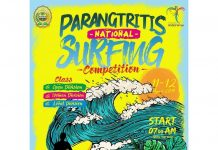 parangtritis national surfing competition