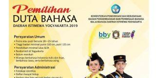 Pemilihan Duta Bahasa Daerah Istimewa Yogyakarta 2019