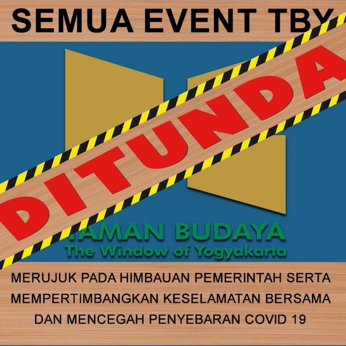 Penundaan Event Taman Budaya Yogyakarta